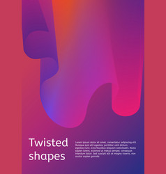 trendy minimal cover or poster design template vector image
