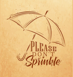 umbrella graphics craft vector image
