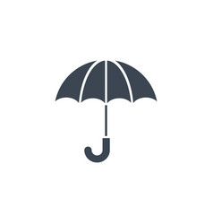 umbrella related glyph icon vector image