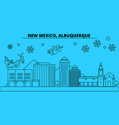 United states albuquerque texas winter holidays vector