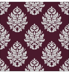 Vintage seamless pattern in carmine and white vector image