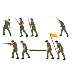 Warriors men in set 02 vector