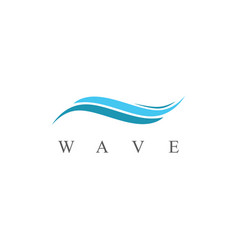 Wave abstract logo vector