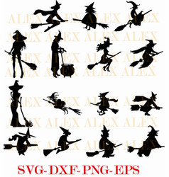 Witch svg halloween witch png eps halloween vector
