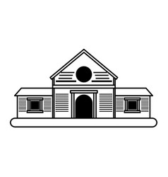 Wooden house icon image vector