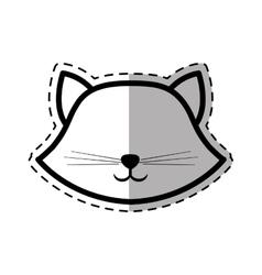 face cat breed animal mammal dot line shadow vector image vector image