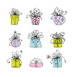 Gift box icons for your design vector image vector image