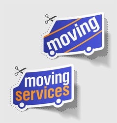 moving services labels vector image vector image