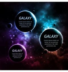 Three planets vector image