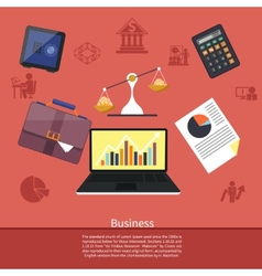 Background with various business elements vector image