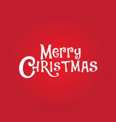 christmas logo vector image vector image