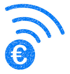 euro announce icon grunge watermark vector image