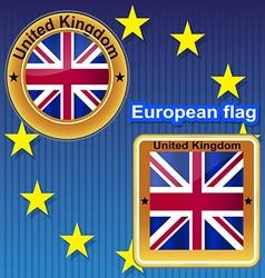 Flag symbol uk kingdom britain england united nat vector image