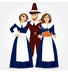 for thanksgiving of the pilgrims vector image vector image