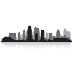 Kansas city USA skyline silhouette vector image vector image