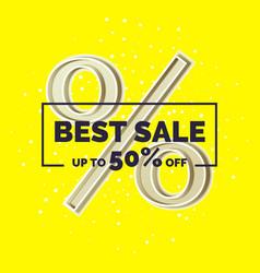 original concept poster discount sale banner vector image vector image