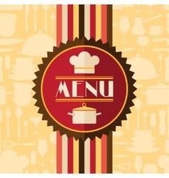 Restaurant menu background in flat design style vector image vector image