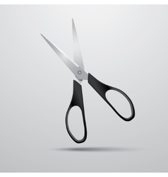scissors on a white background vector image vector image