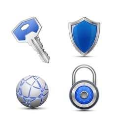 Security and protection symbols vector image