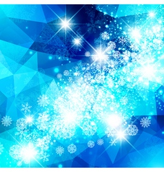 Snowflake Christmas Star Background vector image