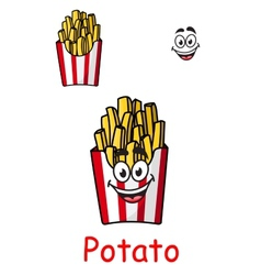 Takeaway box of fried potato chips vector image vector image