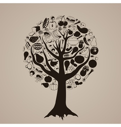 Tree meal vector image vector image