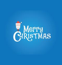 christmas logo with sanata vector image vector image
