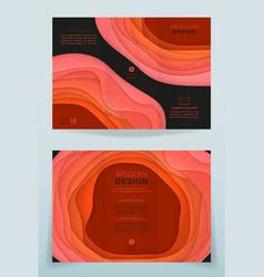 design of business brochure vector image vector image