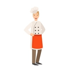 Restaurant Chef Cook Part Of Happy People And vector image vector image