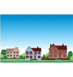 Suburb background vector image
