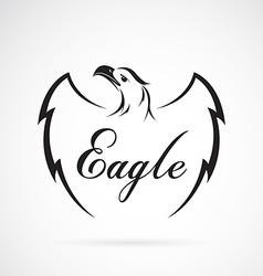 Eagle design on white background vector image