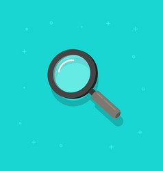 magnifying glass icon flat cartoon vector image vector image