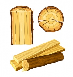 Wooden material wood and board vector