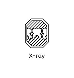 x-rays of the tooth outline vector image