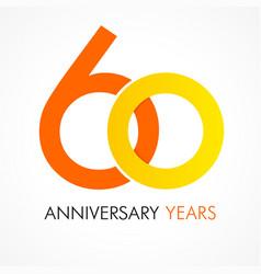 60 circle anniversary logo vector