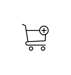 Add to cart shopping icon vector