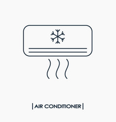air conditioner outline icon vector image