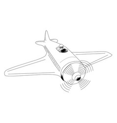 assault plane vector image