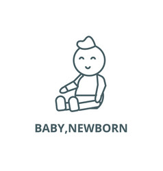 babynewborn line icon babynewborn vector image
