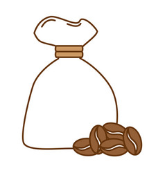 bag coffee seeds isolated icon vector image