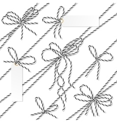 Bakers twine bows ribbons and labels vector