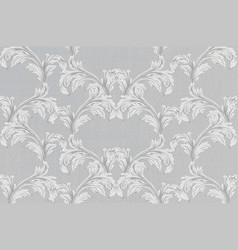 Baroque pattern background vintage vector