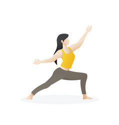 beautiful young woman in pose yoga vector image