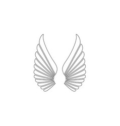 bird wings flat icon vector image