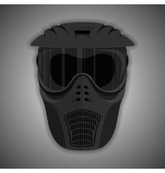Black mask vector image