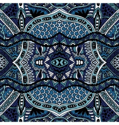 Blue Oriental Ethnic Seamless pattern design vector image
