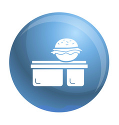 burger lunchbox icon simple style vector image