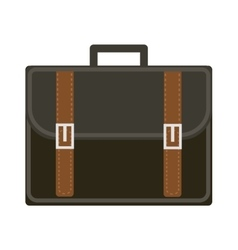 Business suitcase icon flat style Portmanteau vector