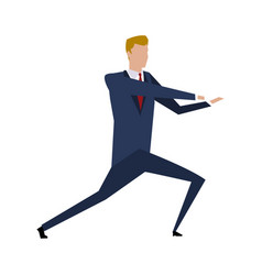 Cartoon businessman in suit successful vector