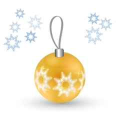 Christmas tree toy Round ball vector image